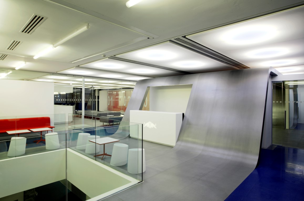 Red Bull office desk